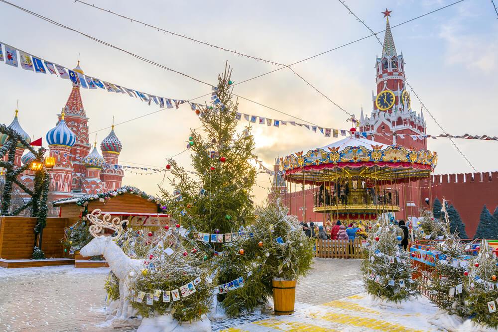 Decoração de Natal na Rússia